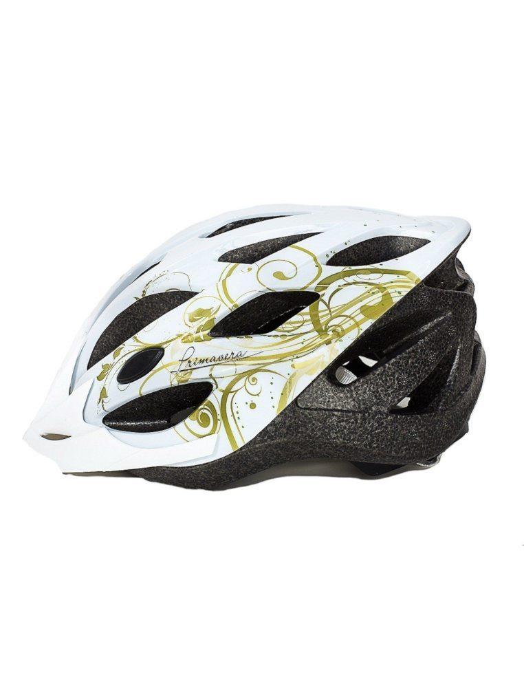 Шлем  женский, 19 вент. отверстий, размер M(56-59), цвет белый