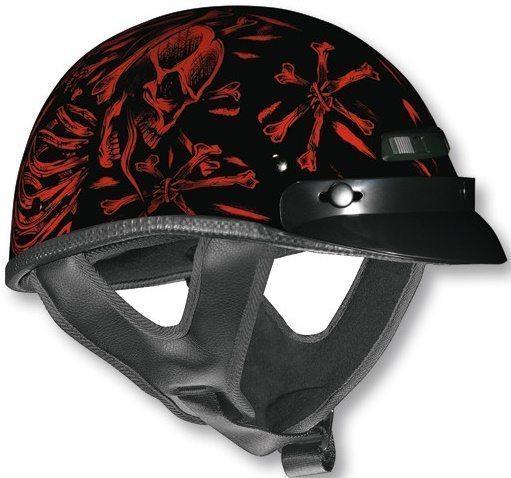 Шлем (открытый с козырьком) NТ-200 (XTS) Red Bonz красный/черный глянцев. L