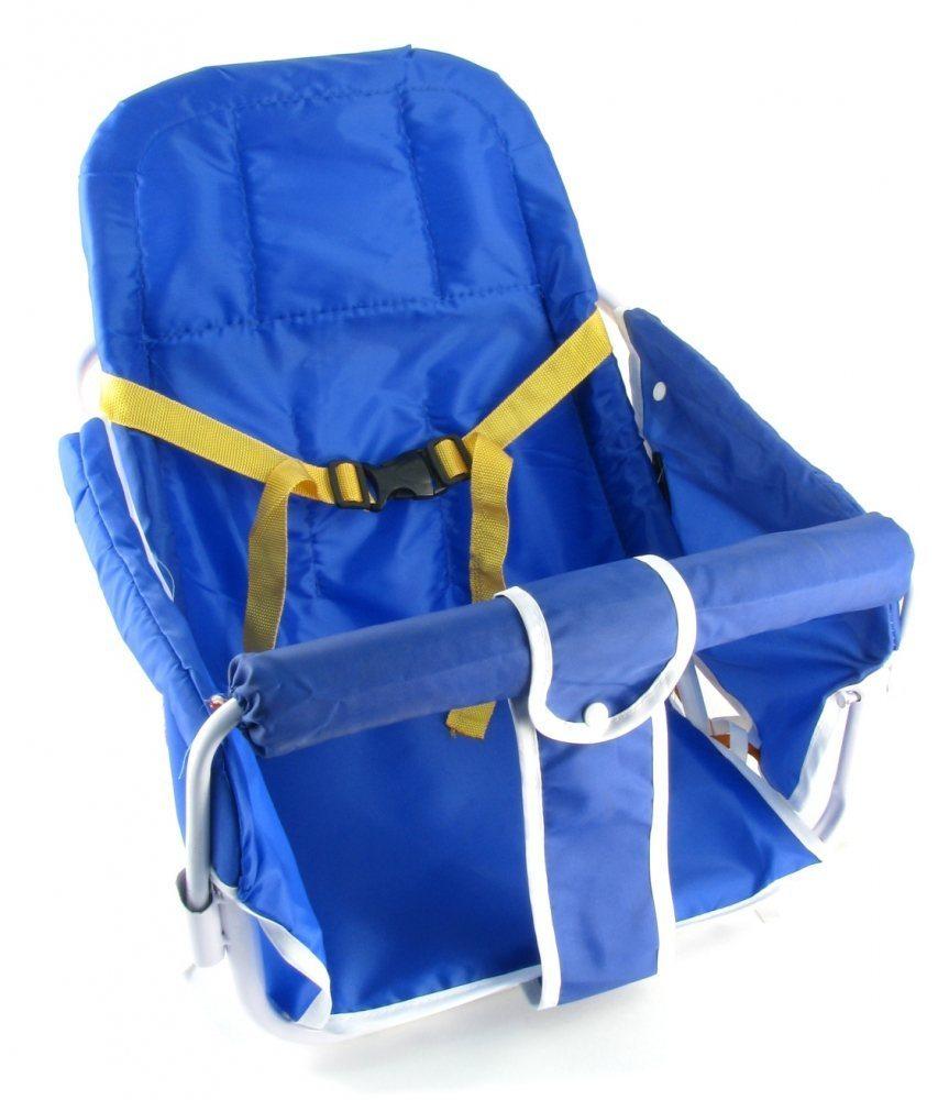 Кресло детское с креплением на багажник, синяя накладка, Китай
